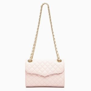 Rebecca Minkoff Mini Quilted Affair Pale Pink